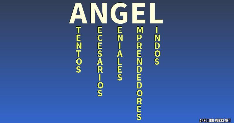 Significado Del Apellido Angel Significados De Los Apellidos
