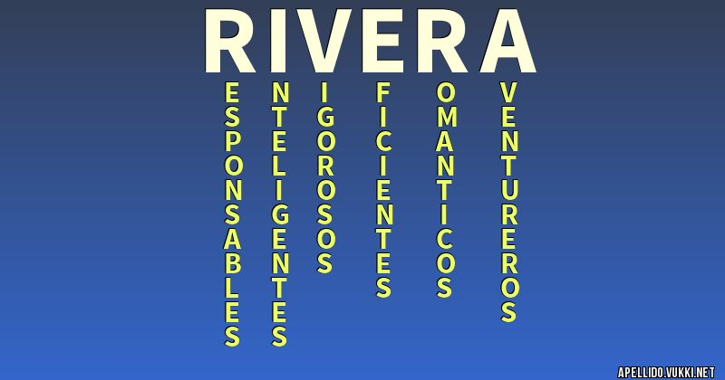 Significado del apellido rivera